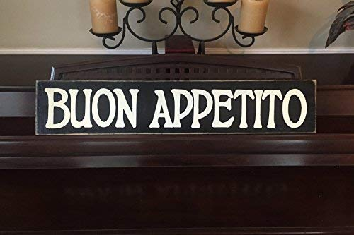 BUON Appetito Italian Kitchen Food Italy Country Chic Rustic Farmhouse Gallery Funny Quote Plaque Home Craft Sign for Women Men