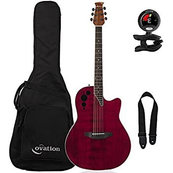 ovation applause elite ae44ii rr acoustic electric guitar ruby red with ovation. Black Bedroom Furniture Sets. Home Design Ideas
