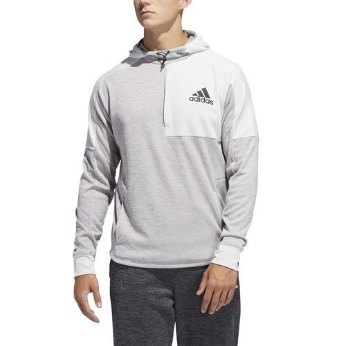 adidas Men's Team Issue Pull Over Hoodie, Grey Metallic/Medium Grey Heather/Solid Grey, -