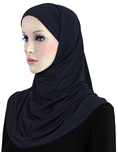 Hijab Lycra 2 piece Al Amira Hood & Tube Cap Set (Midnight Blue) by Khatib Fashions