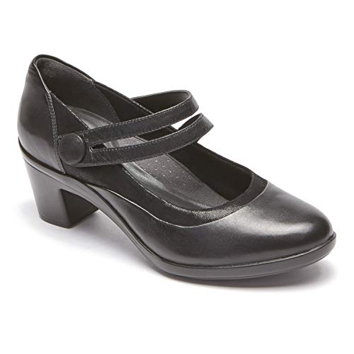 Aravon Women's Lexee Mary Jane Black Leather 5.5 M US M (B)