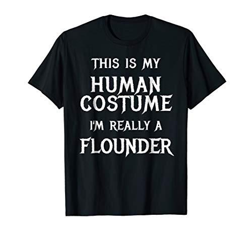 I'm Really a Flounder Shirt Easy Halloween Costume