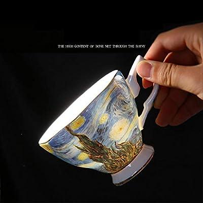 Tini Mugs - Van Gogh Art Painting Coffee Mugs The Starry Night, Sunflowers, The Sower, Irises Saint-Remy Coffee Tea Cups 1 PCs