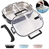 Lunch Bento Box Insulated Stainless Steel Square Food Storage Container Leakproof with 2