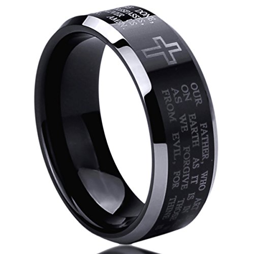 8MM Stainless Steel Wedding Band Ring Lord