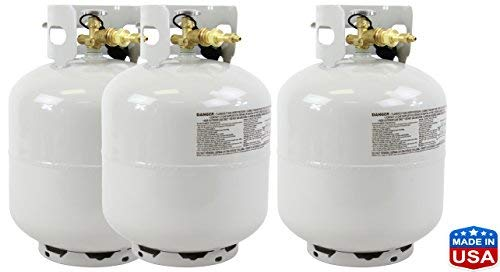 Best Value Vacs 50# 20lbs Solvent High Purity USA ISO-Butane (3 Tanks Total)
