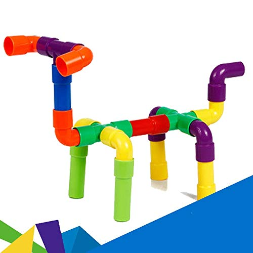 ZnMig Children 3-12 Years Old 80 Pieces of Water Pipe Type Building Blocks Puzzle Color Children's Toys Early Education Puzzle Building Blocks Toys (Color : Multi-Colored, Size : One Size)