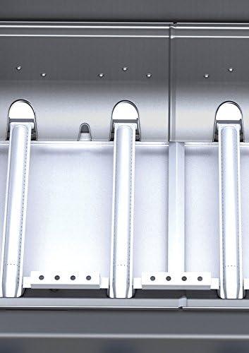 Campingaz Bbq à Gaz Class 3 LBD, 3 Brûleurs en Inox, Puissance 9.6KW, Système de Nettoyage Facile Instaclean, Grille et Plancha en Acier Double Émaillage