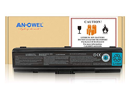 Series Battery L500 - Angwel 10.8V 44WH Replacement PA3534U-1BRS Battery for Toshiba PA3534U-1BAS PA3533U-1BRS PA3534U,Fit for Toshiba Satellite L305 A200 A205 L500 A350 L505,Toshiba Dynabook L300 Series - 1 Year Warranty