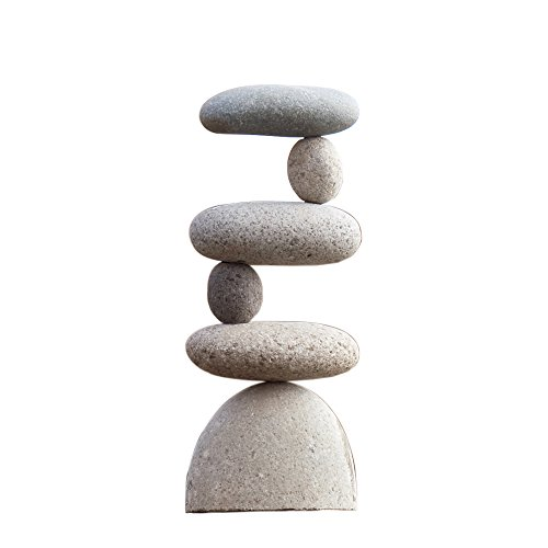 Small Side 2 Side Rock Cairn Sculpture Garden Decoration Zen Garden Pile Stone ()