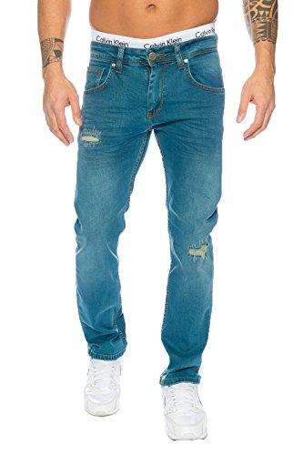 Straight Jeans Loren Uomo Lorenzo Blau wgqa8YA