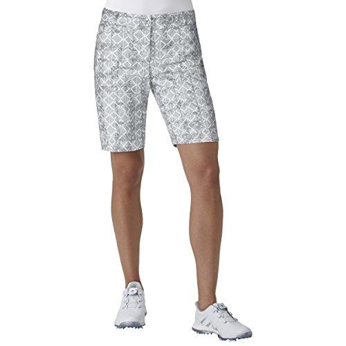 adidas Golf Essentials Printed Bermuda Short, Grey Three, Size 0