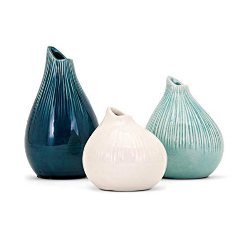 - Imax 13340-3 Stein Vases (Set of 3), Multicolor