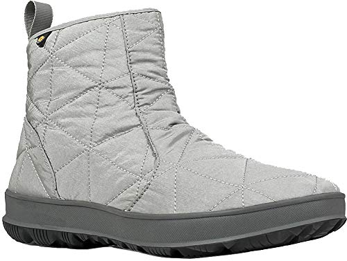 Bogs Womens Snowday Lo Snow Boot, Light Gray, Size 6 ()