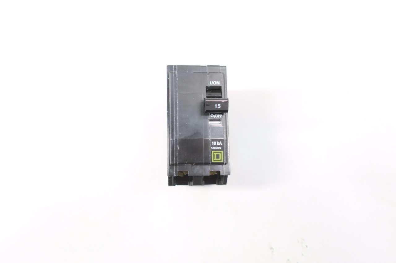 SQUARE D QOB215 MOLDED CASE CIRCUIT BREAKER 2P 15A AMP 120/240V-AC D574173