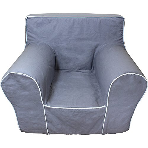 CUB CHAIRS Oversize Grey Chair Cover for Foam Children's Chair (Anywhere Chair Insert compare prices)