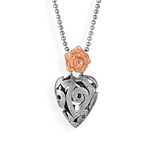 Drachenfels-pendentif femme-argent 925/1000-rose mat of antoine-rOF vG 32/d