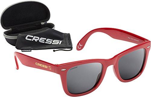 de Cressi Gris Lentilles Sport Tortuga Premium Lunettes Rouge avec Soleil Clair Etui TpqBp