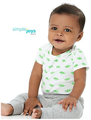 Large Product Image of Simple Joys by Carter's Boys' 6-Pack Short-Sleeve Bodysuit