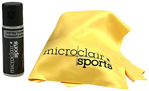 Microclair Sports Active Anti Fog Treatment for Sports Glasses, Set with Microfiber - Used Eyeglasses Be As Sunglasses Can