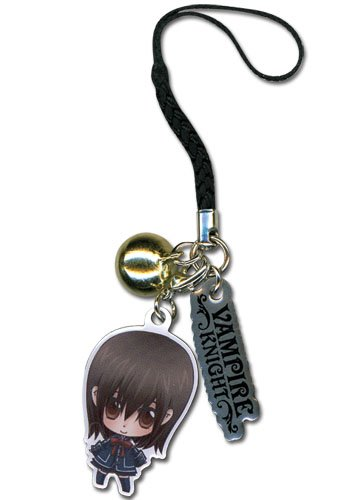 Vampire Knight Yuki Metal Cell Phone Charm Keychain GE-6306 (Vampire Knight Phone Charm)