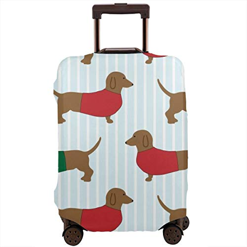 Funny Dachshund Luggage Cover Luggage Case with Zipper,
