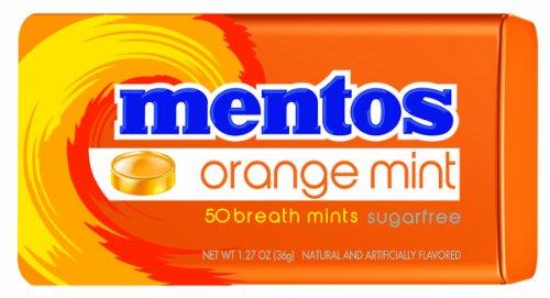 Mentos Sugar-Free Breath Mints, Orange Mint, 1.27 Ounce (Pack of (Mentos Mint Candy)