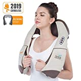 Hueplus CORDZERO-5500 Cordless Premium Shiatsu Back, Neck and Shoulder Massager, Deep Kneading Massage Pillow with Heated 3D Tension Technology - FDA Registered