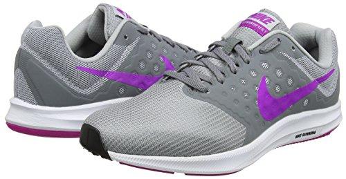 Nike Zapatillas Gris Violet hyper Grey 7 Downshifter Grey Mujer De Para wolf cool black Running rSZrwEq