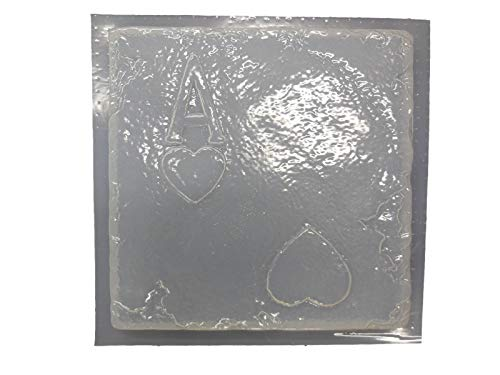 Heart Plaster - Card Ace of Hearts Concrete Plaster Stepping Stone Mold 1024