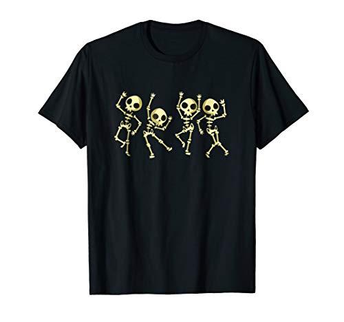Skeletons Dancing Halloween T-Shirt - Halloween Costume Gift -
