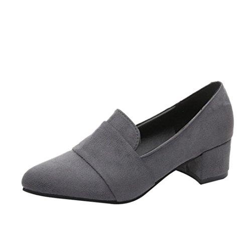 wuayi gamuza mujer gamuza glaseado casual gris de de ligeros primavera zapatos con para zapatos helada de de ante rzBFxrq