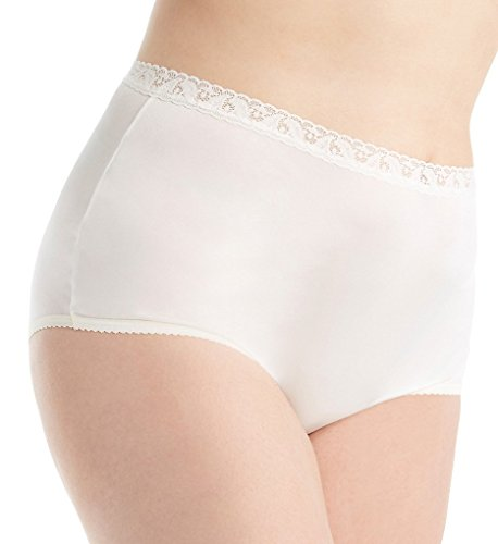 Shadowline Plus Size Nylon Classics Brief Panty (17014P) 9/Ivory