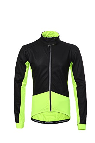 Thermal Cycling Jersey Long Sleeve Snow Water Reflective Windproof Firewall Winter Biking Jacket (Medium, Fluorscent Yellow) ()
