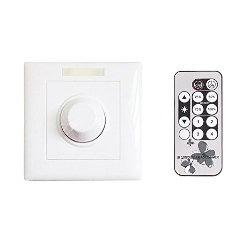Dimmer Switch, Adiding 1-10V Dimming Switch for LED Lamp Light - Remote Control & Manual, White (10v Dimmer)