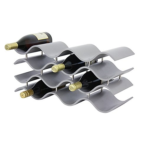Oenophilia Bali 12-Bottle Wine Rack in Grey