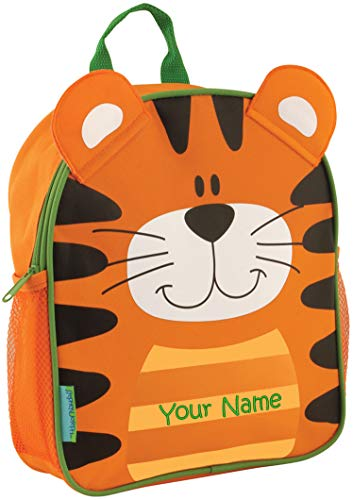 Personalized Stephen Joseph Tiger Mini Sidekick Backpack with Embroidered Name ()