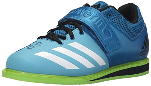 adidas Performance Mens Powerlift.3 Cross-Trainer Shoe Unity Blue White/Semi Solar Green