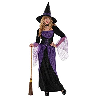 amscan 841209 Black and Purple Witch Costume | Teen Small Size | 1 Piece