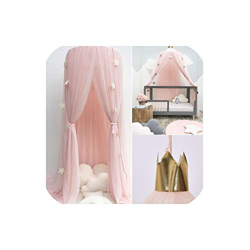 entertainment-moment Summer Children Kid Bedding Mosquito Net Romantic Baby Girl Round Bed Mosquito Net Bed Cover Bed Canopy for Kid Nursery,Pink