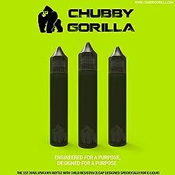 Chubby Gorilla 30ML CRC Child Resistant Signature Unicorn Bottles Black Transparent for Oils E-Juices
