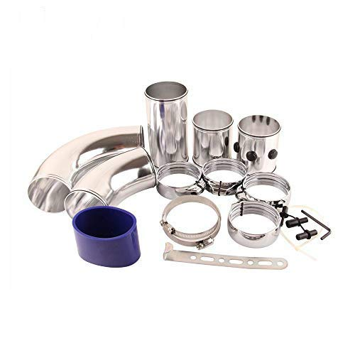 HERCHR Automobile Modification Universal Air Intake Aluminum Tube?kit Multi-function Take-over Air Intake Pipe: