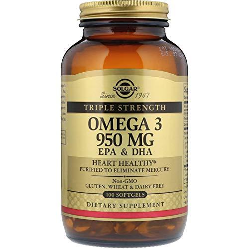 (Solgar - Triple Strength Omega 3 EPA & DHA 950 Mg, 100 Softgels)