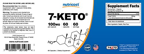 Nutricost 7-Keto 100mg; 60 Capsules