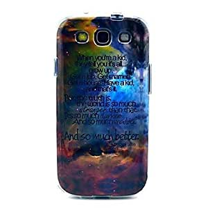 GX Los patrones de nubes color TPU IMD caso suave para el Samsung Galaxy S3 I9300