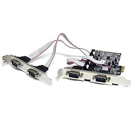 Startech PEX4S553 - Tarjeta de Puerto Serie (PCIe, 4 x RS232)