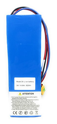36v Lithium Ion Battery (36V 14.5Ah 522Wh Ebike Electric Bike Li-ion Battery Pack Rear Rack XT90 XT60 Connectors)