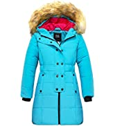 ZSHOW Girl's Winter Warm Puffer Coat Water Resistant Outdoor Jacket Cotton Padded Jackets Faux Fu...