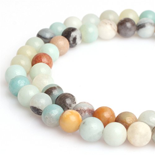Natural Round Amazonite Gemstone Loose Beads for Jewelry Making Handmade DIY One Strand 15