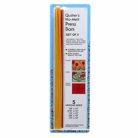 Collins Quilter's Heat Resistant Press Bars for Small Bias Tubes (Set of -